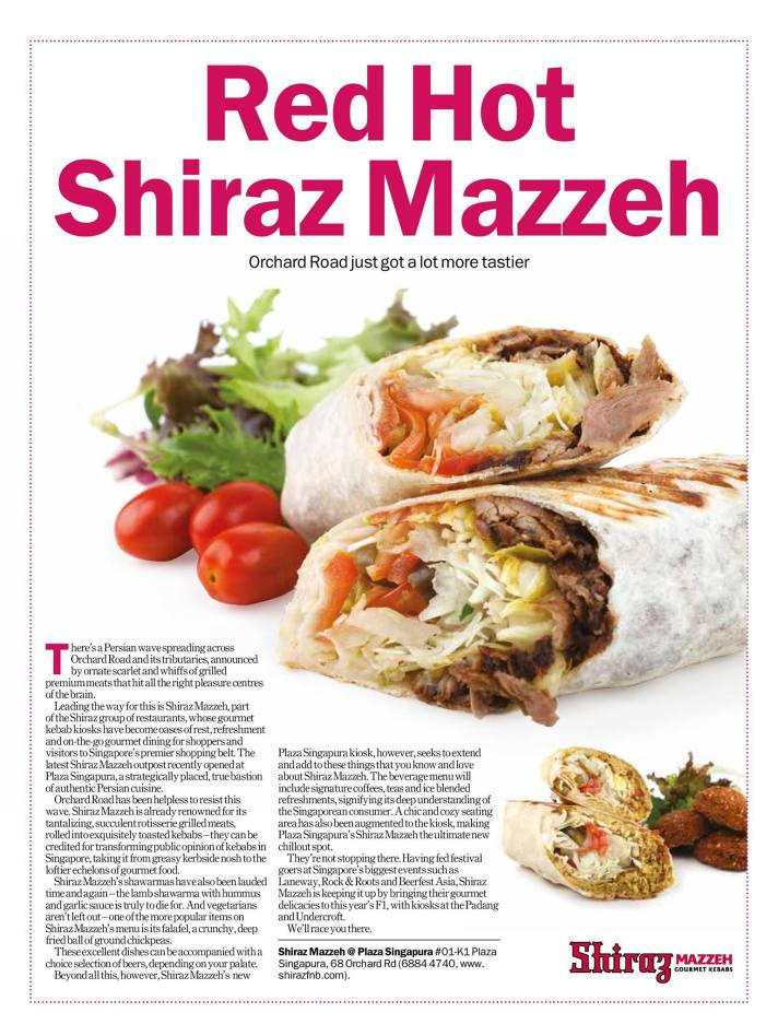 Red Hot Shiraz Mazzeh - TimeOut Singapore September