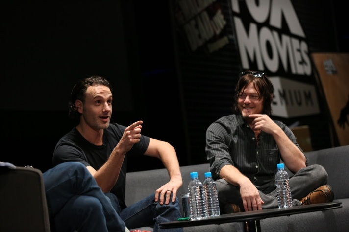 It's Rick as Andrew Lincoln and Daryl as Norman Reedus!