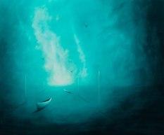 Las golondrinas y el mar (2010/2014), 100cm X 120cm, oil on canvas, Sabiana Paoli Art Gallery