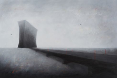 Invisible Bridges 3 (2014), 80cm X 120cm, Oil on canvas Sabiana Paoli Art Gallery