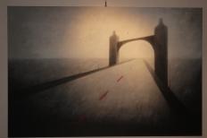 Invisible Bridges 1 (2014), 100cm X 150cm, Oil on canvas Sabiana Paoli Art Gallery