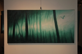 Golondrinas en el bosque (2012), 40cm X 80cm, oil on canvas, Sabiana Paoli Art Gallery