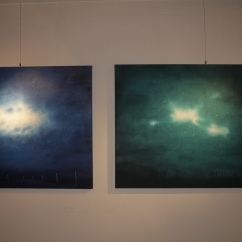 Nebulosas, blue (2014) & Nebulosas, green (2013) Sabiana Paoli Art Gallery