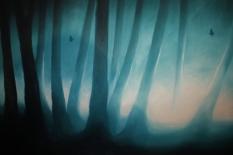 Mariposas en el bosque (2014), 50cm X 70cm, oil on canvas, Sabiana Paoli Art Gallery